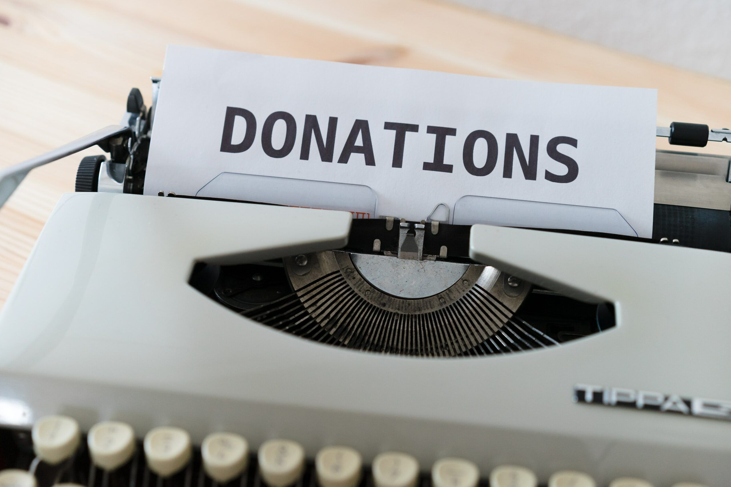 donations-type-writter